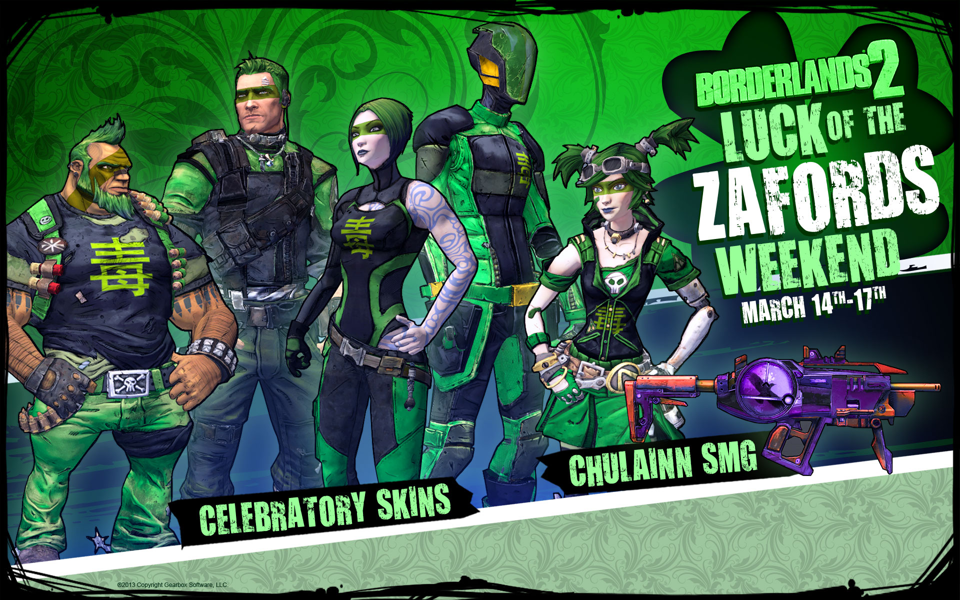 Borderlands 2 Luck of the Zafords Weekend – Gearbox Software
