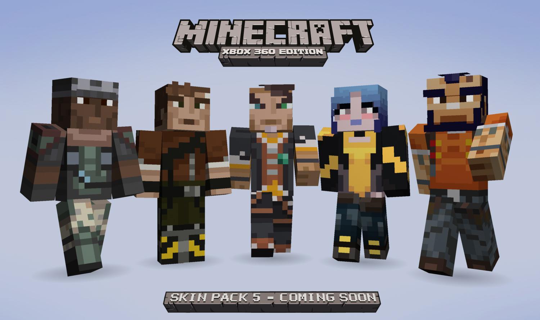 Borderlands And Minecraft Meet Again Gearbox Software - Skins para minecraft ps3 gratis