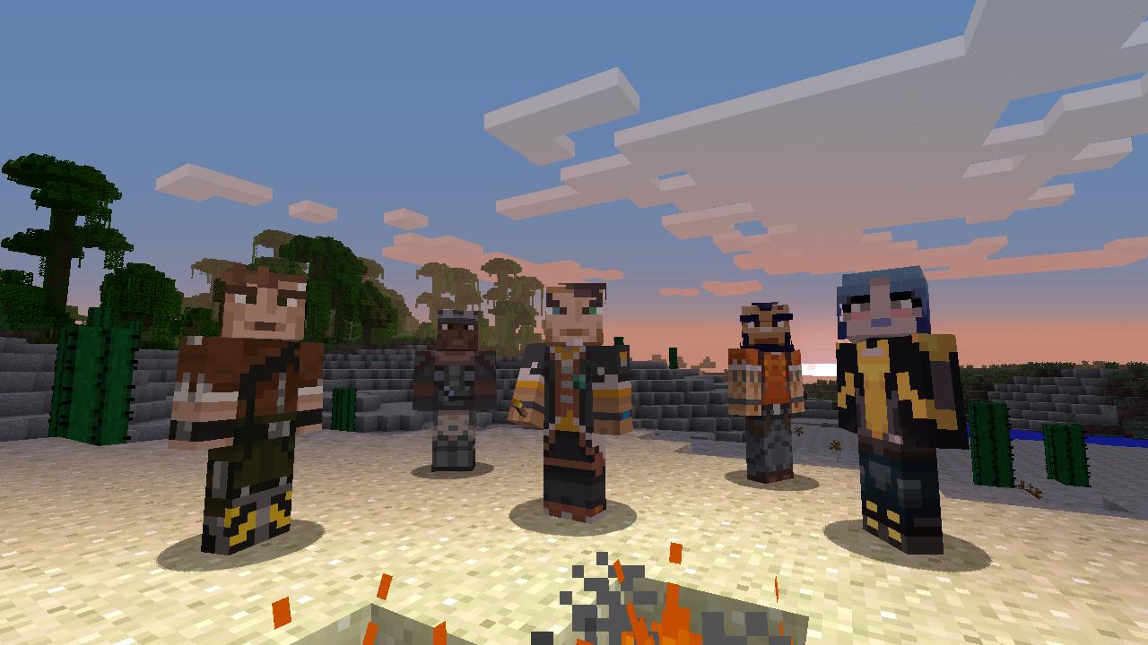Borderlands And Minecraft Meet Again Gearbox Software - Skins gratis minecraft xbox 360