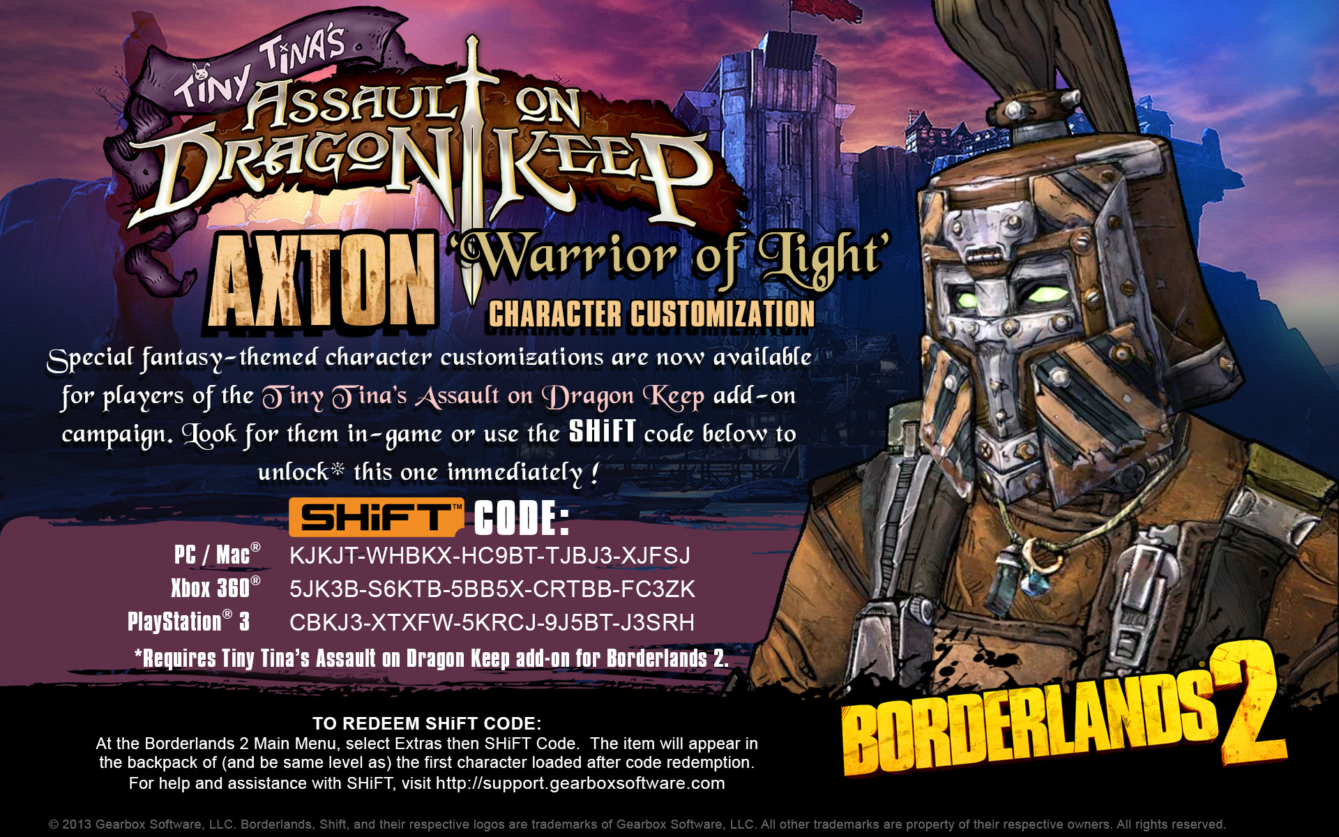 Borderlands 2 shift codes – Conexión de un enrutador equipo Borderlands The Pre Sequel Shift Codes