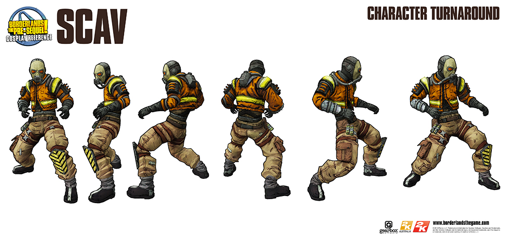 New Cosplay Reference Guide Scav Gearbox Software