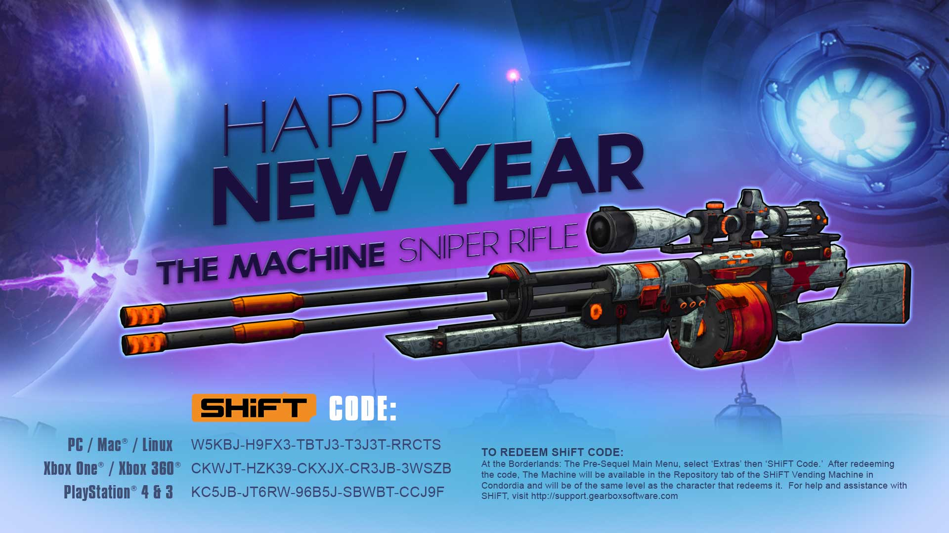 0dd850a9c Happy New Year – Unlock the Machine Sniper Rifle – Gearbox Software