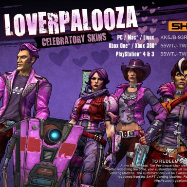 Borderlands: The Pre-Sequel Loverpalooza 2016 Skins