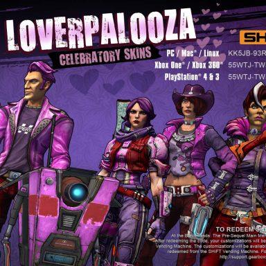 Borderlands: The Pre-Sequel Loverpalooza 2016 Skins
